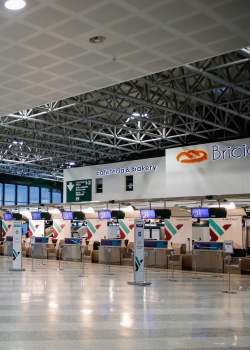 Milan airport empty March 2020