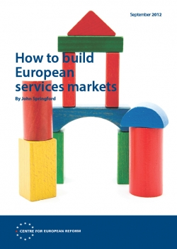 How to build European services markets