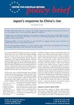 Japan's response to China's rise